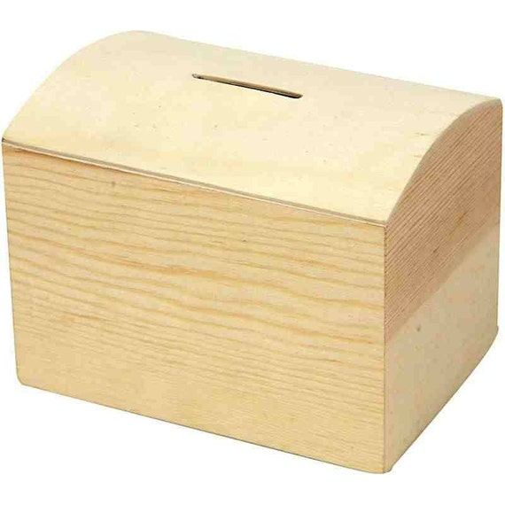 Plain wooden money box craft decorate by crabtreelaneshop for How to decorate a money box