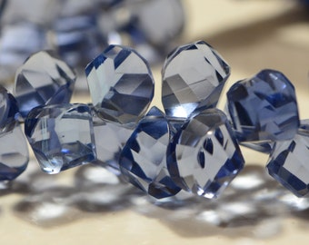 Blue Quartz Faceted Beads Natural Gemstone Beads Jewelry Making Supplies
