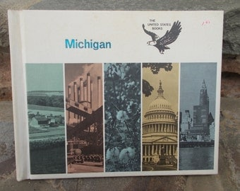 Michigan The United States Book Vintage 1965 Bernadine Bailey Kurt Wiese Illustrated Young Adult Nonfiction Book US Shipping Included