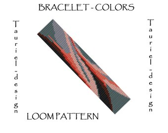 Loom pattern - bracelet - Colors