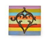 original primitive heart art with wood salvage by Elizabeth Rosen