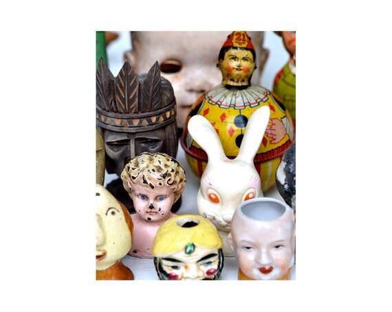 doll parts, doll heads, 8x10 PRINT  vintage dolls,   by Elizabeth Rosen