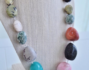 Mixed Stone Necklace