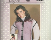 Vintage 1983 Daisy Kingdom 220  Quilted Art Vest Pattern with Asian Inspiration Sizes XS to XL UNCUT