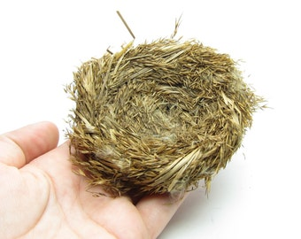 Bird's Nest Decoration Natural Grass Nests for Craft Projects, Floral Arrangements - Medium