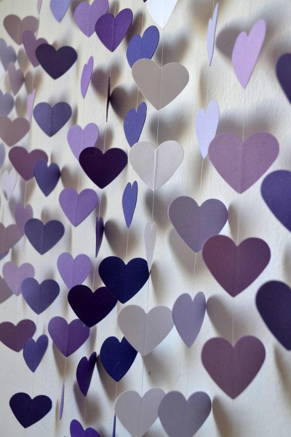 Items similar to diy heart mobile kit lilac dreams wall for Wedding wall decor