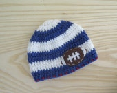 Giants Football Hat with Felt Appliqué | Giants Baby Hat | Giants Crochet Hat