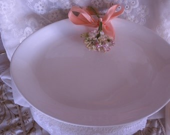 Vintage Cream Colored USA Small Serving Platter Just in Time For Holiday Gatherings