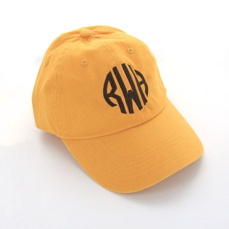 monogrammed baseball cap personalized hat classic baseball