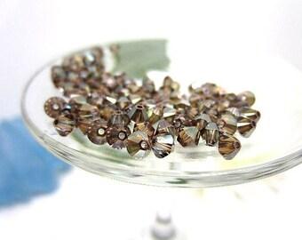 Swarovski Crystal Beads 4mm Art 5328 Crystal Bronze - 60 Pieces