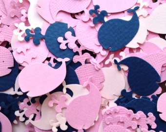 Whale Baby Shower Confetti, Pink Whale Confetti, Whale Confetti, Whale Baby Shower Baby Girl