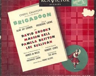RCA Victor Brigadoon 45rpm Record Album Original Broadway Cast
