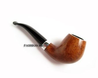 Fashion Italian Briar Wood mini Smoking Pipe Sherlock Holmes Pipe Tobacco Pipe - Designed For Pipe Smokers in 2013