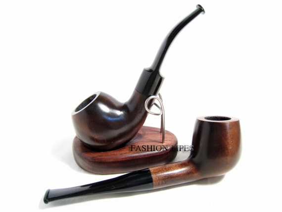 "SET - 2 Tobacco Wooden Pipes Carving Handmade BEST Offer. Smoking Pipes: ""Pipe - Ball & Pipe - Pot"". Wood Pipe Limited Edition."