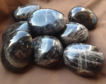 Black Moonstone Palm Stone The Stone Of Shadow