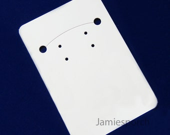 100pcs White Paper Necklace and Earrings Card for Jewelry and Accessories- Superior Quality