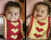 "Reversible baby bib (""Double the Love"") knitting pattern (PDF)"