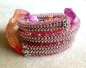 Shades Of Pink Crystal Wrap Bracelet