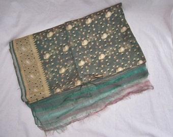Vintage Sari Fabric, 2.7Yds