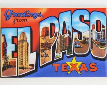 Greetings from El Paso Texas Fridge Magnet