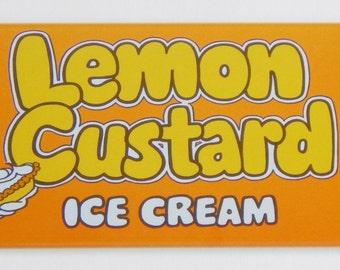 Lemon Custard Ice Cream Fridge Magnet
