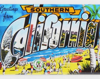 Greetings from Southern California Fridge Magnet