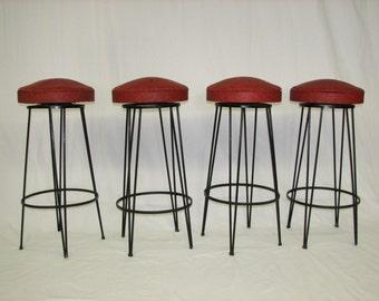 Mid Century Modern vintage bar stools set of 4