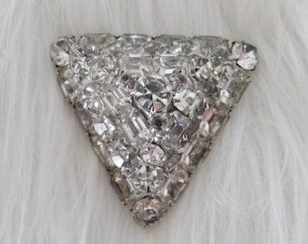 Amazing Prong Set Rhinestone Brooch, Eisenberg, Large Pin, Looks like Diamonds.