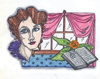 Unmounted Victorian Collage Rubber Stamp