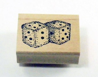 Fuzzy Dice Rubber Stamp