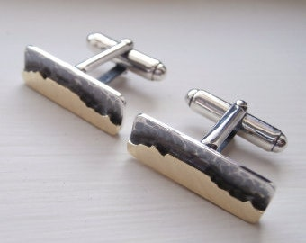 Rustic Table Mountain Cuff Links Cape Town Cuff Links- Sterling Silver (925) - Brass