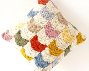 cushion crochet pattern chevron pillow pattern vintage modern crochet geometric knitted cushion pillow crochet