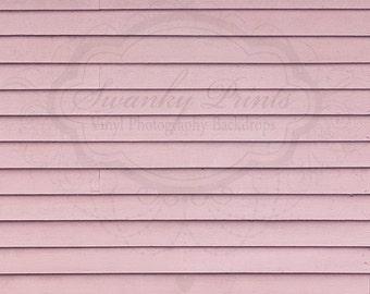 LARGE 5ft x 5ft Vinyl Backdrop WOOD /  Pale Pink Wood Floor