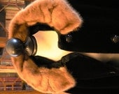 vintage coat ... MINK collar Borg fur coat BORGLASKA by STALL  1950 1960 -  wow retro wow ...