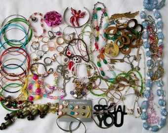 Girl's PRINCESS JEWELRY LOT Destash Dress-up Small flat rate box Kids Resale Crafting Wearable Upcycle 14