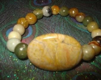 SALE..Natural Stone Beaded Bracelet