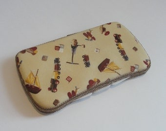 Baby Wipes Case, Travel Baby Wipes Case With Vintage Toy Print