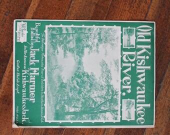 Vintage Sheet Music - The Old Kishwaukee River by Jack Harmer for Guitar, Ukelele (1937)