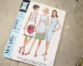 60s Sleeveless Dress Sewing Pattern McCall's 8190 Size 16 Bust 36