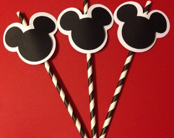 Mickey Mouse Inspired Straw Toppers