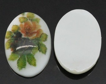 8 Cabochons 14X10mm - Shell - Multicolors - Ships IMMEDIATELY from California - C170