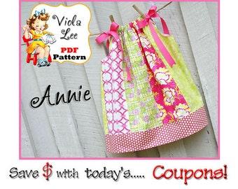 Annie Lee Girl's Pillowcase Dress Pattern. Girl's Dress Pattern. Toddler Dress Pattern. Girl's Sewing Pattern. Toddler pdf Sewing Pattern.