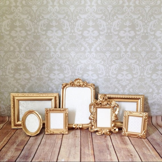 Small PICTURE FRAMES Gold Glam Shabby Chic By VintageEvents