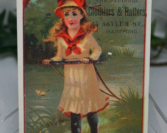 Victorian Trade Card - A.L. Fosters & Co- Clothiers and Hatters - Advertisement