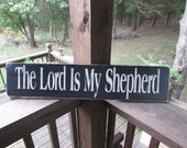 primitives country decor, The Lord is my shepherd, Wood sign, scripture sign, sign, wall decor primitive sign, primitive home decor