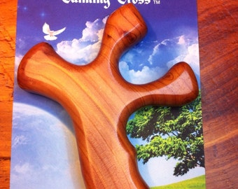 Wooden Calming Cross Angel