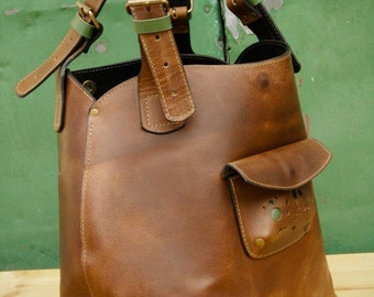 Brown Leather Oversized Bag