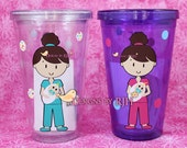 Personalized Nurse Tumbler - Dental Hygienist, RN, Labor & Delivery - Travel Cup - Nurse's Week - Great Gift