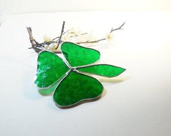 Shamrock Celtic Pattern Textured Glass.