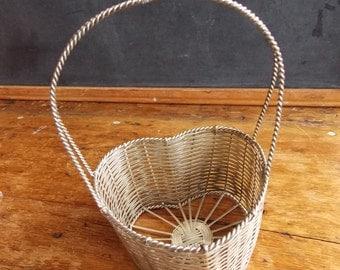 Vintage German Metal Woven Gift Baskets